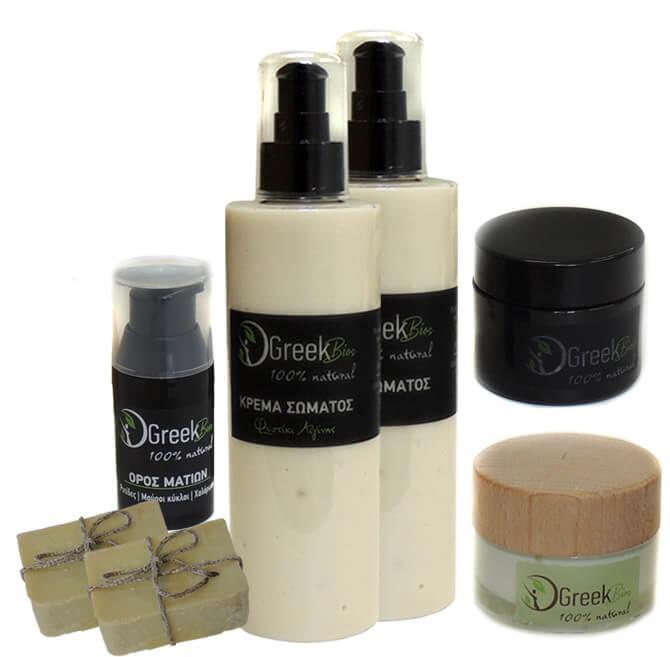 Προσφορά σε οποιεσδήποτε τρεις κρέμες δώρο ένα σαπούνι GreekBios της επιλογής σας.
