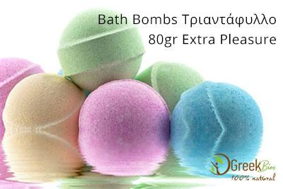 Bath Bombs Τριαντάφυλλο 80gr extra pleasure